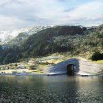 Den Stad-Schiffstunnel kann auch das größte Hurtigruten-Schiff, die Midnatsol, passieren.©Norwegian Coastal Administration