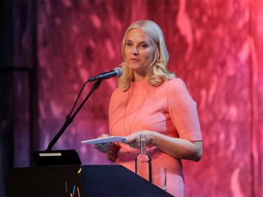 Kronprinzessin Mette-Marit zur Auftaktkonferenz in Oslo©Lise Åserud / NTB scanpix