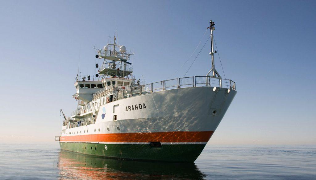 An Bord des Forschungsschiffes Aranda werden Brennstoffzellen von PowerCell getestet.©PowerCell