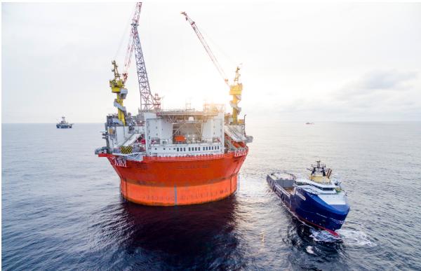 Eni Norge ist auch in der Barentssee aktiv. Im Bild die Plattform Golliat.©Eni Norge