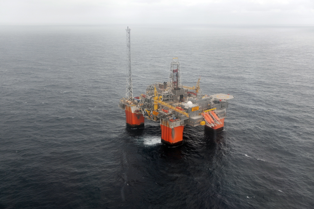 Neun Anlagen der Öl- und Gasindustrie werden gegenwärtig auf dem norwegischen Kontinentalschelf bestreikt. Im Bild: Snorre B©Harald Pettersen/Equinor