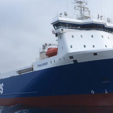 Mit der neuen Frachtlinie M/S Finncarrier will Color Line mehr Güter auf dem Wasser transportieren. Auf das Bild klicken, um die Galerie zu öffnen.