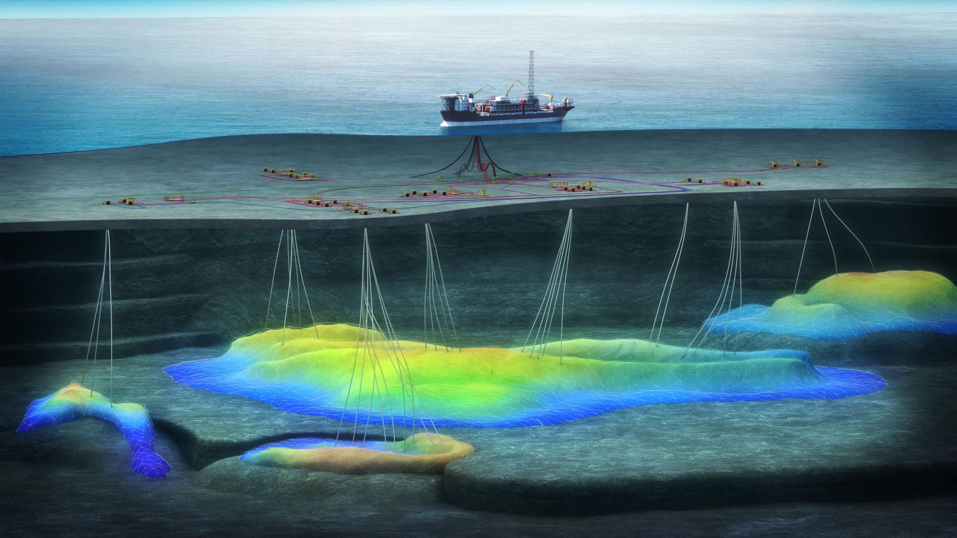 Die neuen Öl- und Gasfelder Trell und Trine werden über die Alvheim-Einheit entwickelt©Aker BP