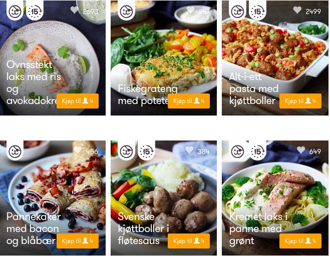 Der norwegische Online-Lieferservice kolonial.no bietet Mahlzeiten sowohl fertig gekocht als auch als Zutaten mit Rezept.©kolonial.no