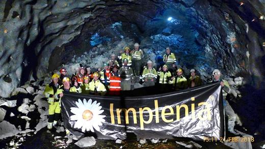 Feier von Røysa nach dem Durchbruch. Der Tunnel ist auf Nordås. Foto: Staatliche Straßenverwaltung