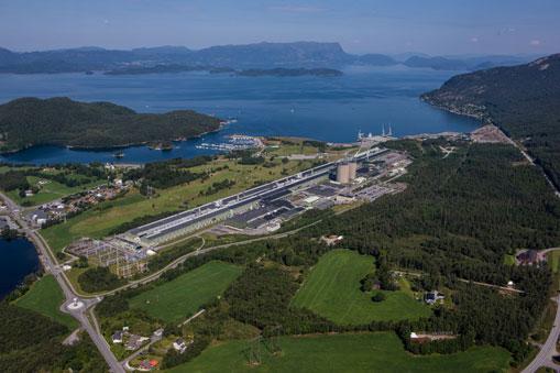 Aluminiumfabrik in Husnes, Norwegen.©Hydro/ Aerophoto