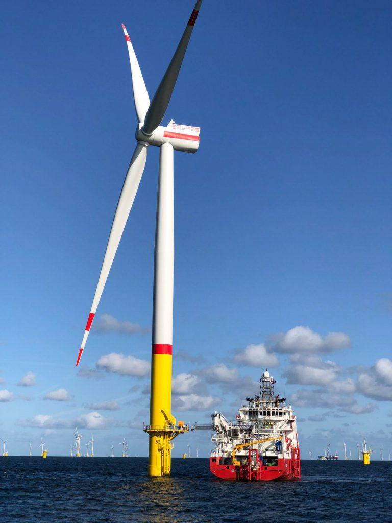 44 Windanlagen sind im Windpark Arkona gegenwärtig in Betrieb.©Equinor