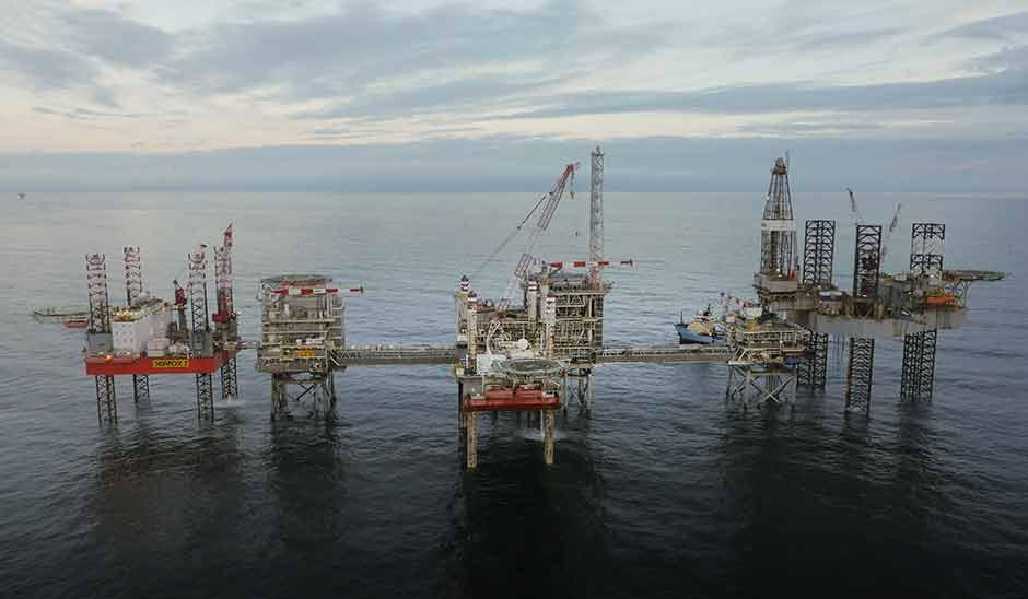 Die Cygnus Alpha Installation von Neptune Energy in der südlichen Nordsee.©Polar Media