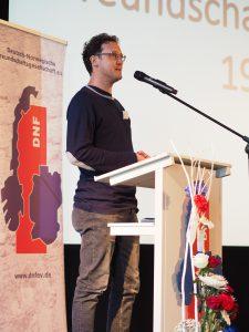 DNF-Regonalgruppenleiter Martin Schmid aus-Halle bei der Begrüßung©DNF