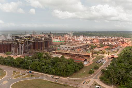 Die Aluminiumoxid-Raffinerie des norwegischen Aluminiumkonzerns Hydro in Alunorte, Brasilien©Hydro    A