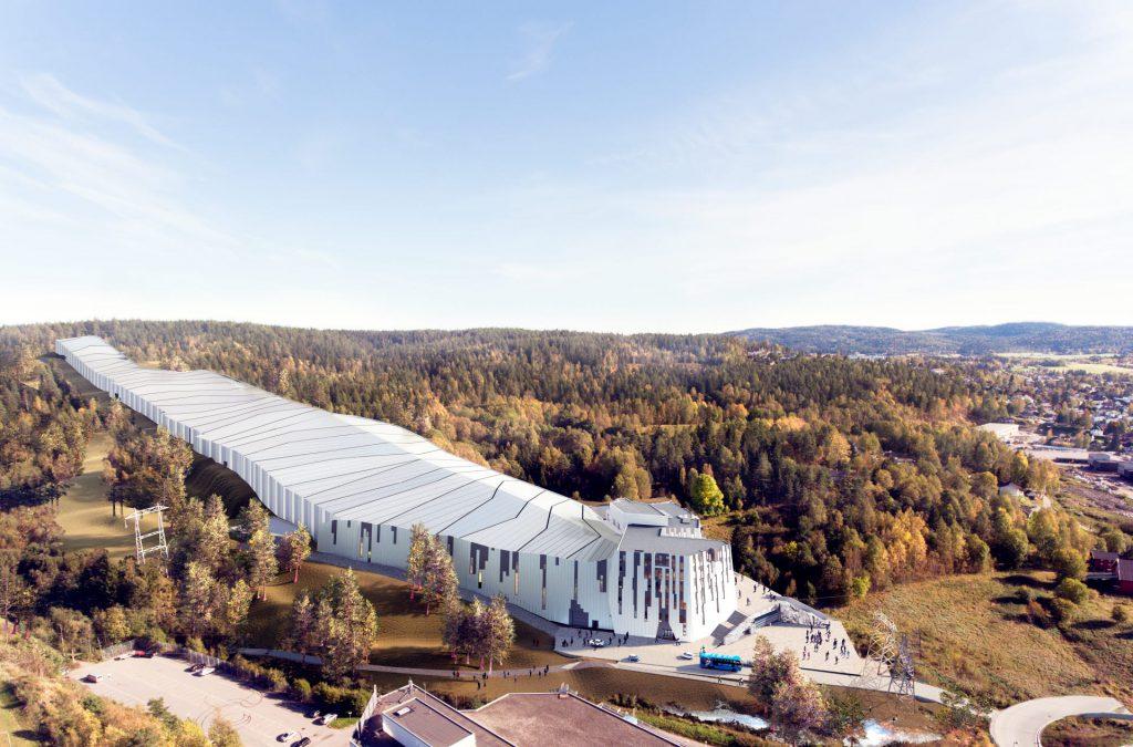 Bei der Gestaltung der ersten Indoor-Skipiste Norwegens gab es mehrere gebäudebezogene Herausforderungen. Dies wird eines der Themen der Konferenz sein. Abb .: Halvorsen & Reine AS / BetonmastHæhre