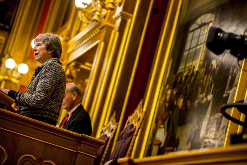 Theresa May zur eröffnung der 70. Tagung des Nordischen Rates im norwegischen Parlament Storting©Sara Johannessen