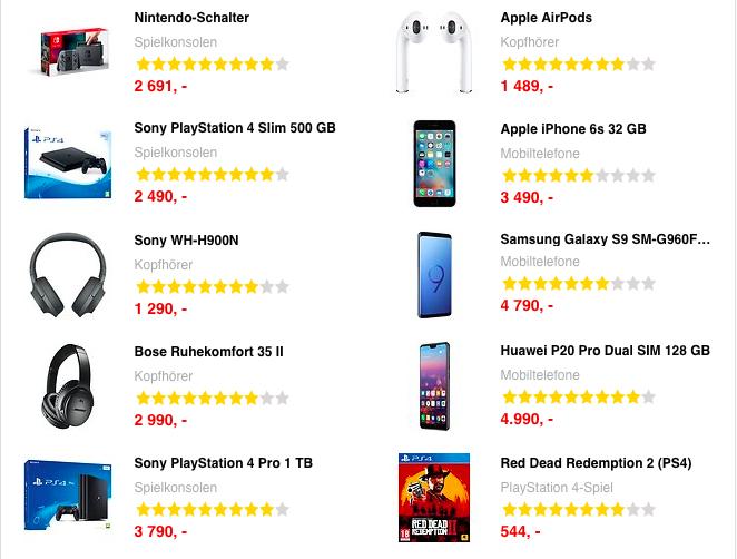 Die besten Angebote auf Pricejakt.no©Priceakt.no