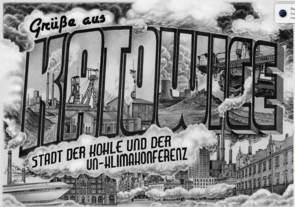 Der Öl- und Gaskonzern Wintershall macht mit einer ungewöhnlichen Postkartenaktion auf die Bedeutung des Klimagipfels in Katowice aufmerksam.©Wintershall