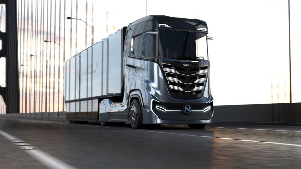 Der Wasserstoff-Elektro-Truck Nikola 3 des amerikanischen Unternehmens Nikola Motors wird von der norwegischen Post eingesetzt©Nikola