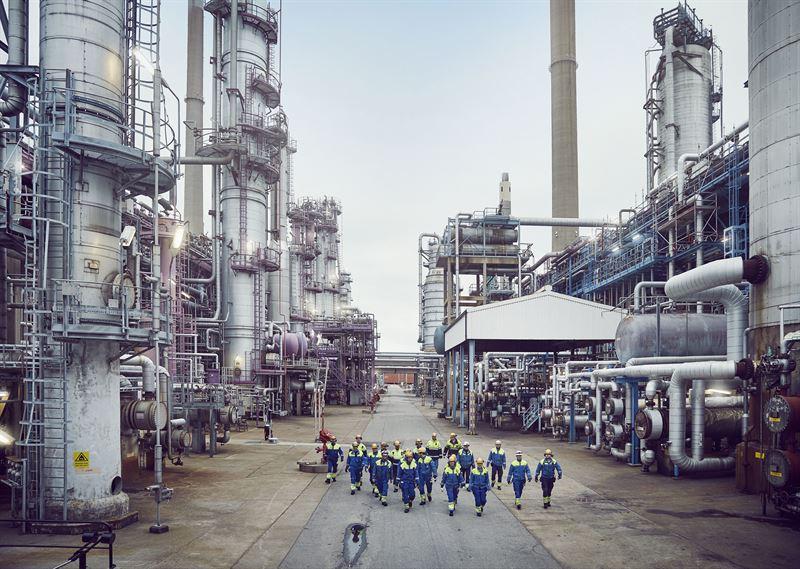 In einer Auffanganlage in der Lysekil-Raffinerie können jährlich 500.000 Tonnen CO2 abgeschieden und unterirdisch gelagert werdn.©Preem AB