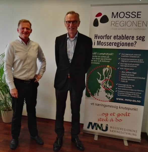 Hans und Yngvar Trandem unterstützen in Moss die Wirtschaft bei der Digitalisierung. @BPN