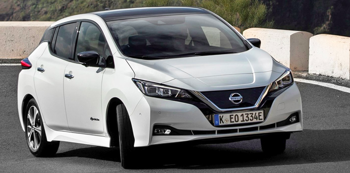 Der Nissan Leaf war 2018 mit 12.303 Neuzulassungen der meistverkaufte Pkw in Norwegen.r©OFV