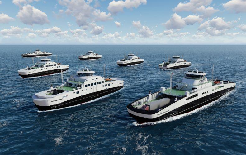 Die neuen Elektrofähren von Fjord1 sollen bis zum 1. Januar 2020 einsatzbereit sein.©Corvus