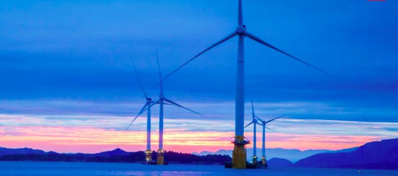 Befestigung der schwimmenden Turbinen nach dem TetraSpar Konzept auf dem Meeresboden©Stiesdal Offshore Technologies A/S