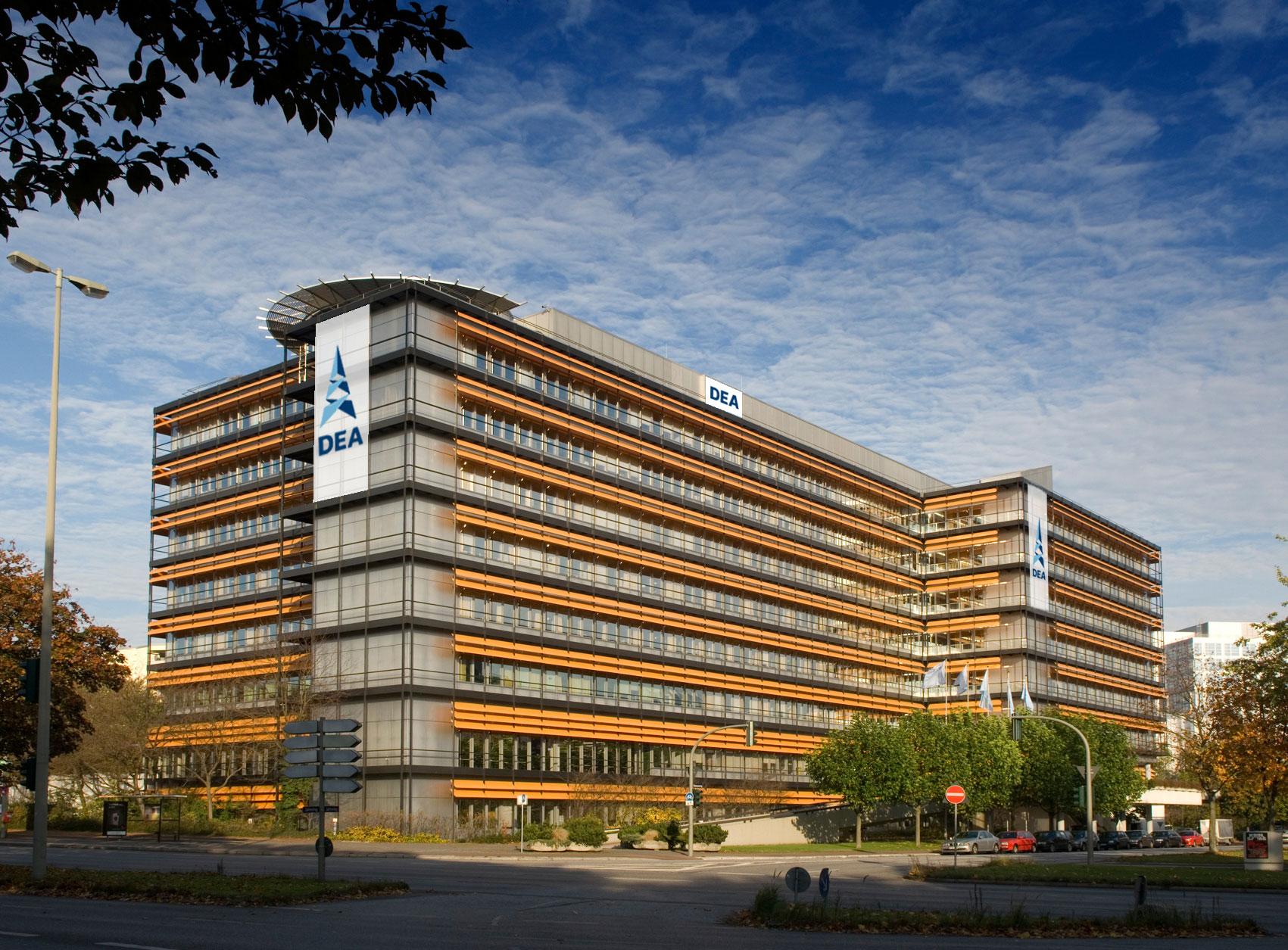 Hamburg wird Sitz des Unternehmens DEA Wintershall. Im Bild: Die Unternehmenszentrale von DEA in Hamburg©DEA Group